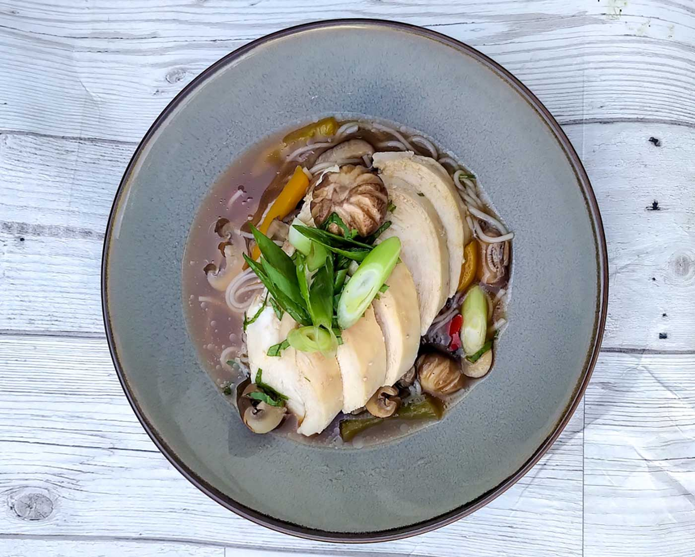 chicken shiitake mushroom and glass noodle soup recipe