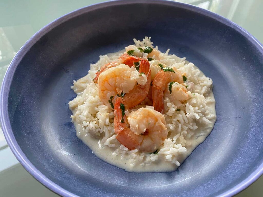 Pan-Asian and Caribbean Shrimp with Basmati Rice Recipe