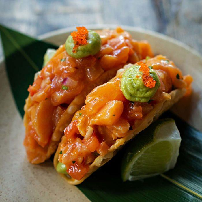 Salmon tartare taquitos - Pubbelly Sushi Dadeland
